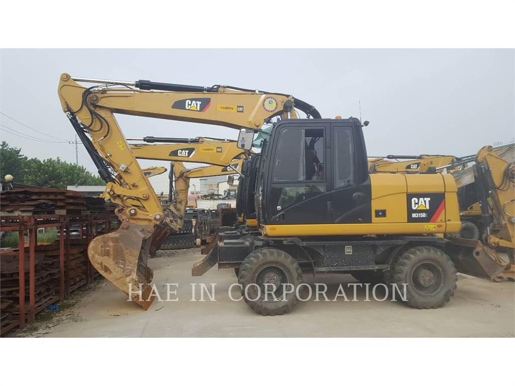 Caterpillar M315D2、ホイール油圧ショベル、建設