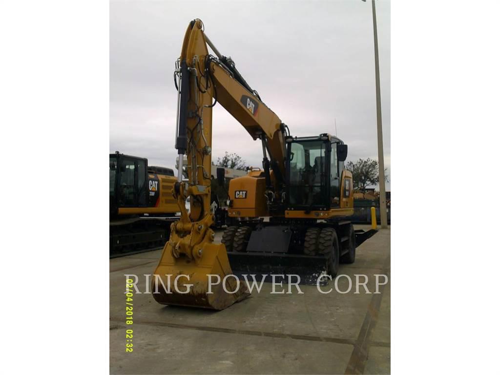 Caterpillar M315F, wheel excavator, Construction