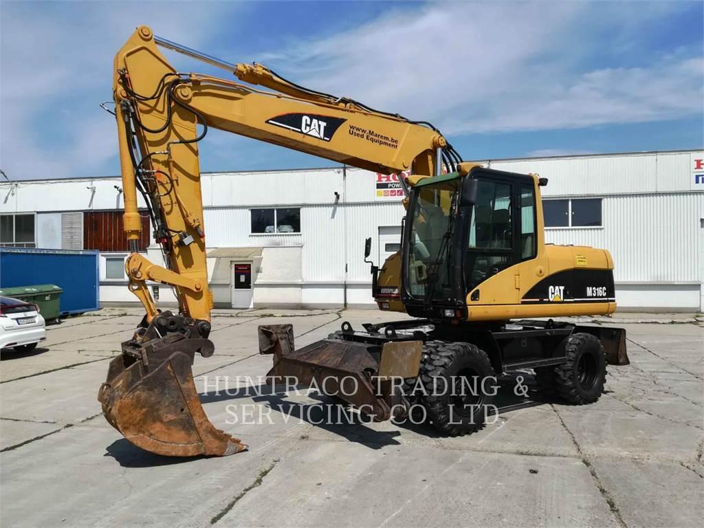 Caterpillar M316C, wheel excavator, Construction