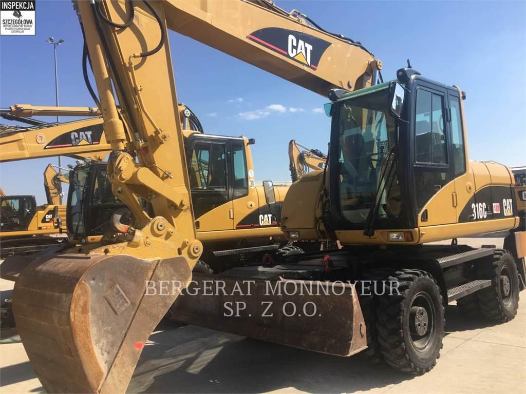 Caterpillar M316C, excavadoras de ruedas, Construcción