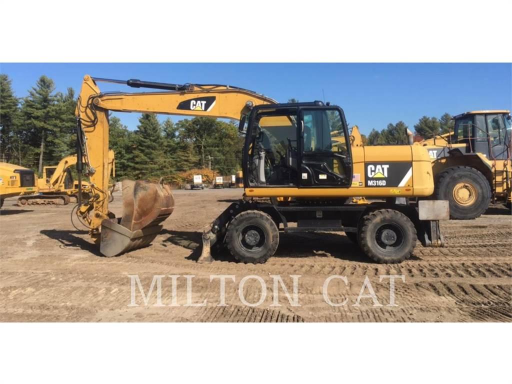 Caterpillar M316D, excavadoras de ruedas, Construcción