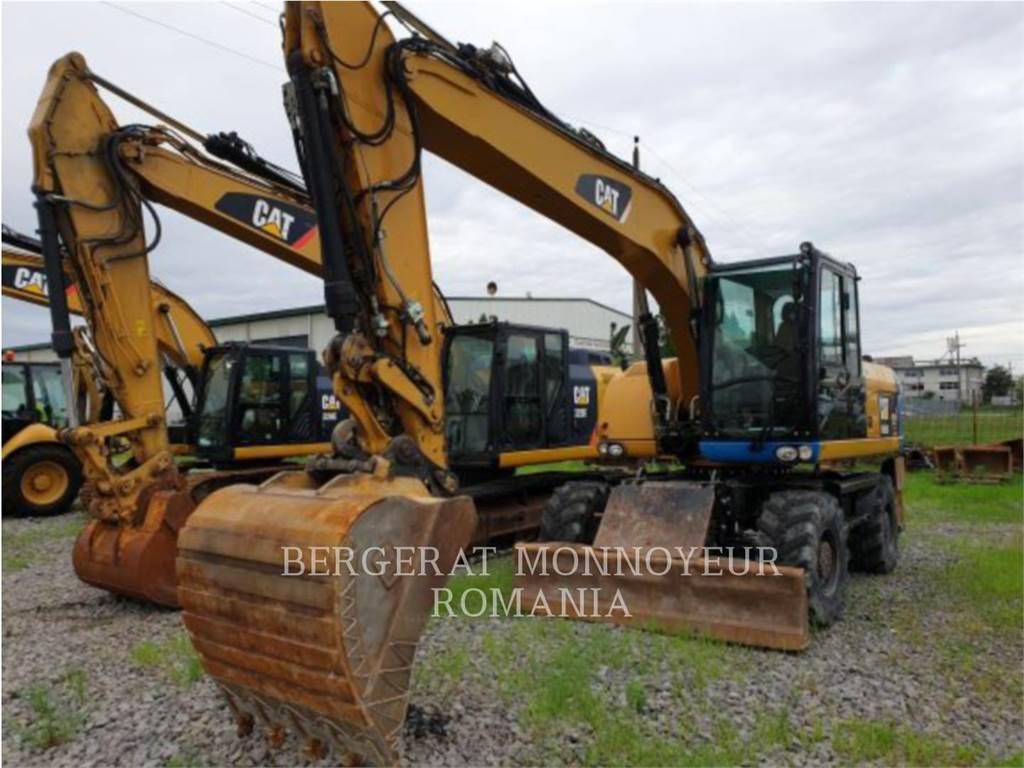 Caterpillar M316D, escavadeiras de rodas, Equipamentos Construção