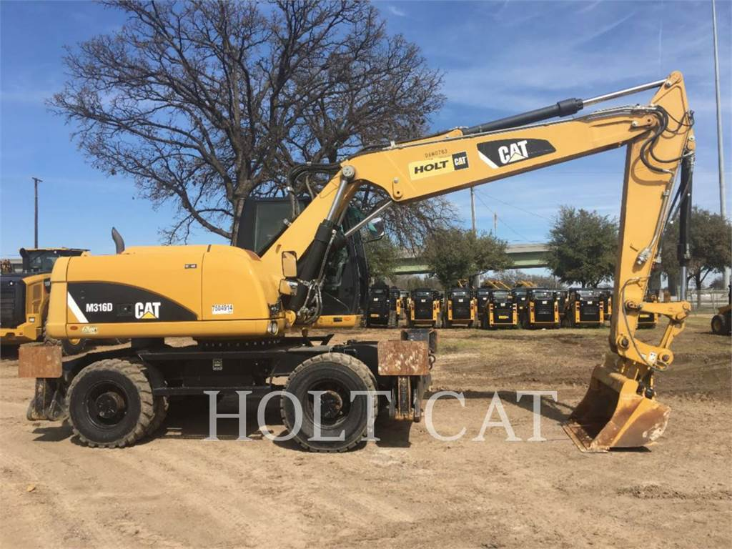 Caterpillar M316D, wheel excavator, Construction