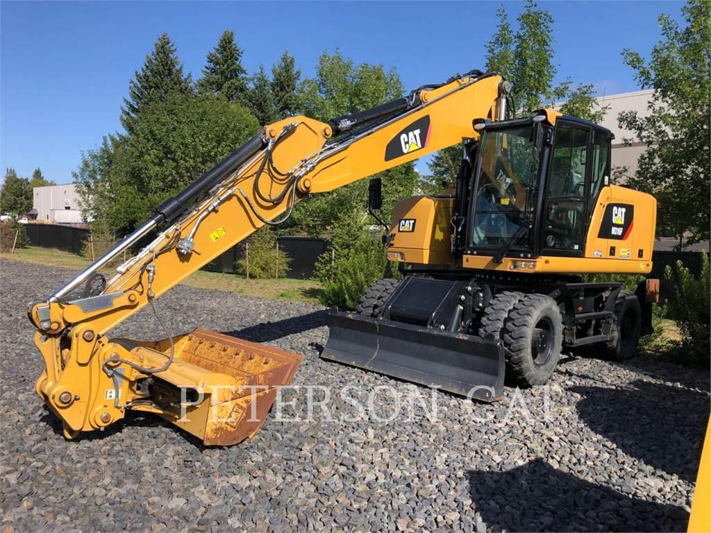 Caterpillar M316F, wheel excavator, Construction