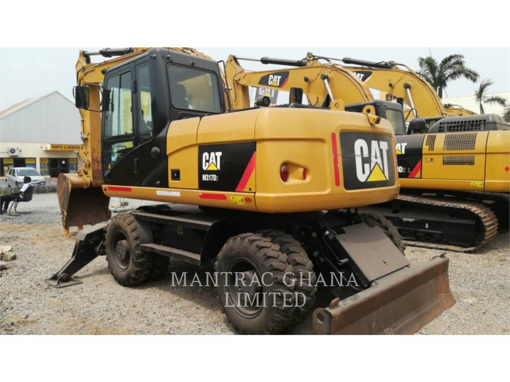 Caterpillar M317D2, wheel excavator, Construction