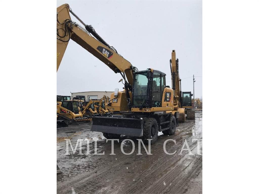 Caterpillar M317F, wheel excavator, Construction