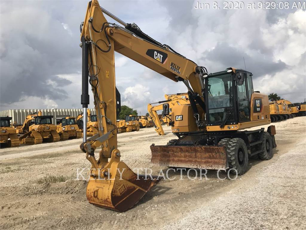 Caterpillar M318 F, wheel excavator, Construction