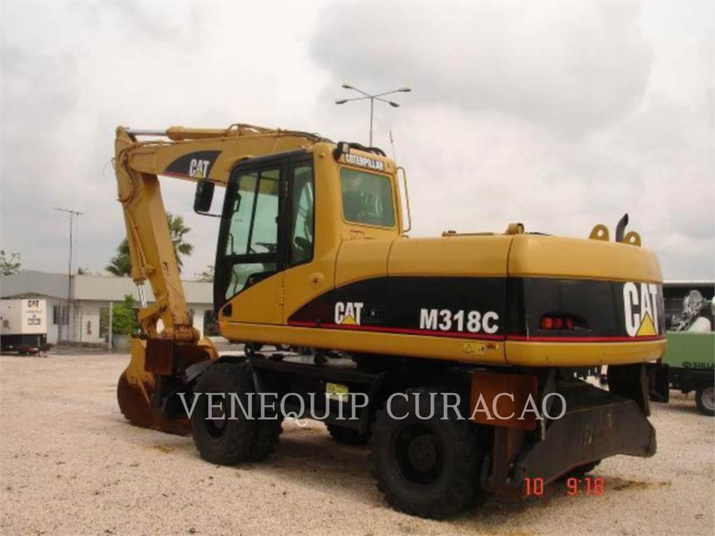 Caterpillar M318C, excavadoras de ruedas, Construcción
