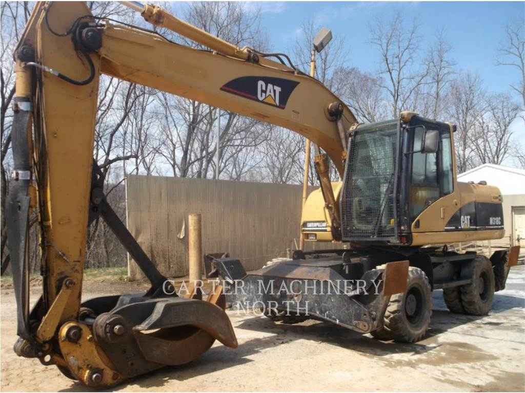 Caterpillar M318C, escavadeiras de rodas, Equipamentos Construção