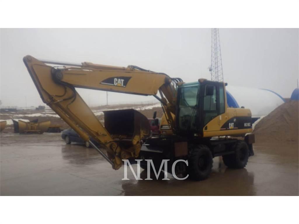 Caterpillar M318C, wheel excavator, Construction