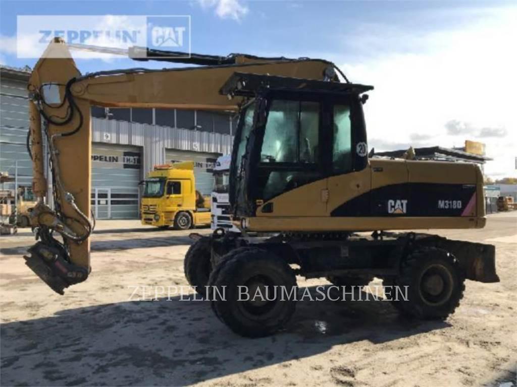 Caterpillar M318D, pelles sur pneus, Équipement De Construction