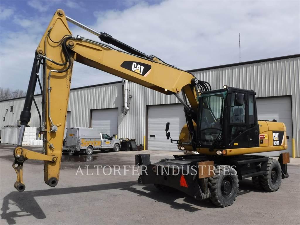 Caterpillar M318D, escavadeiras de rodas, Equipamentos Construção