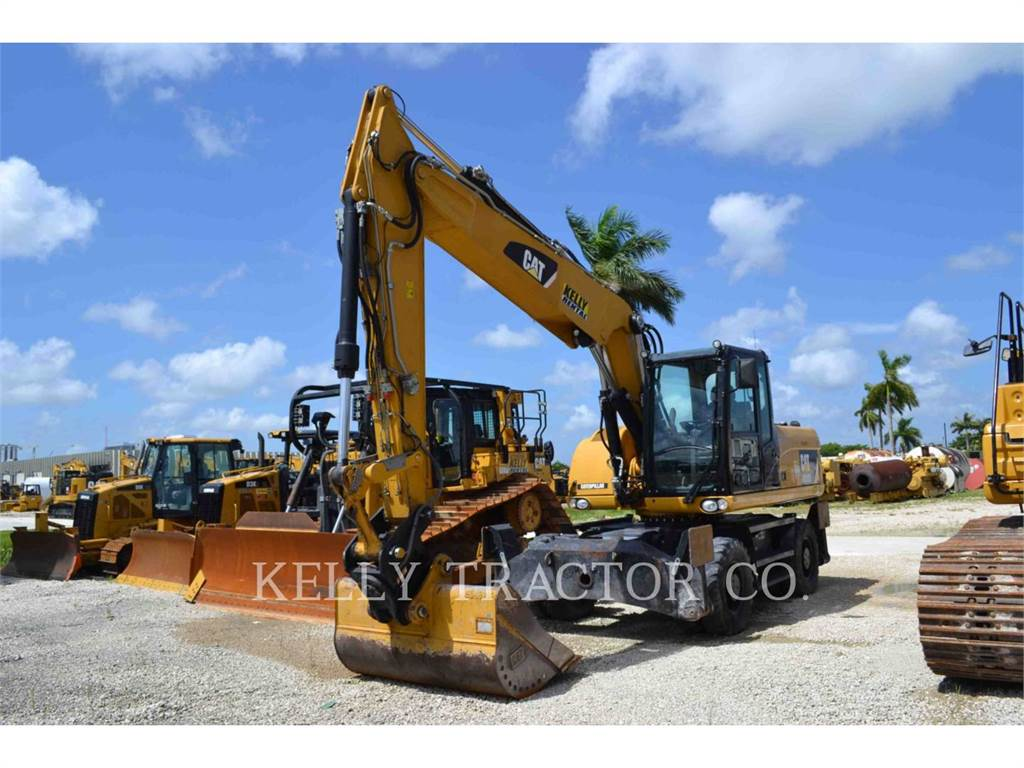 Caterpillar M318D, wheel excavator, Construction