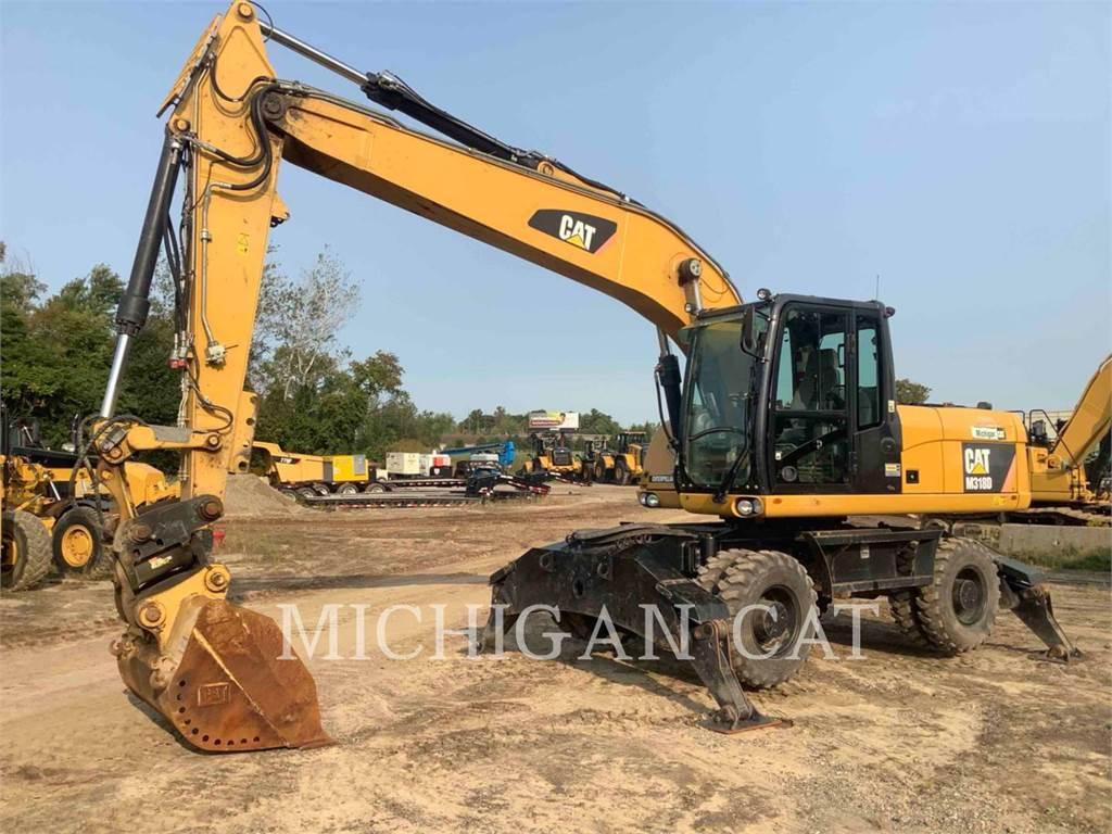 Caterpillar M318D PMQ+, wheel excavator, Construction