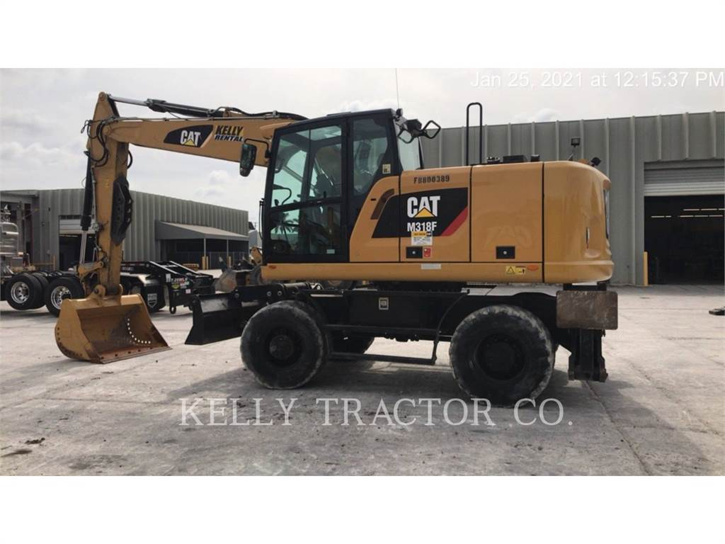 Caterpillar M318F, wheel excavator, Construction