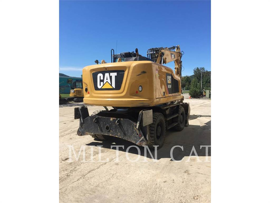 Caterpillar M318F, wheel excavator, Construction