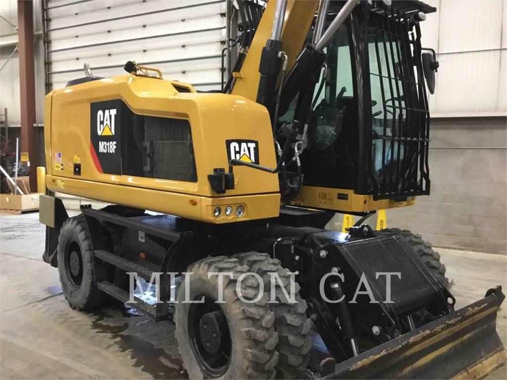 Caterpillar M318F、轮式挖掘机、建筑设备