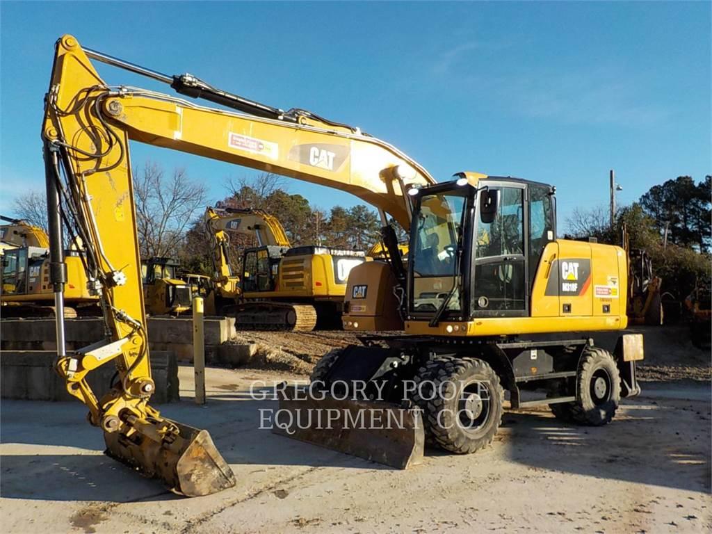 Caterpillar M318F、ホイール油圧ショベル、建設