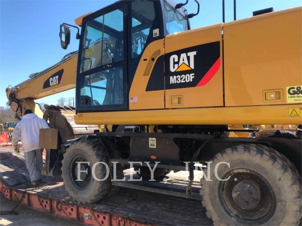Caterpillar M320F, escavadeiras de rodas, Equipamentos Construção