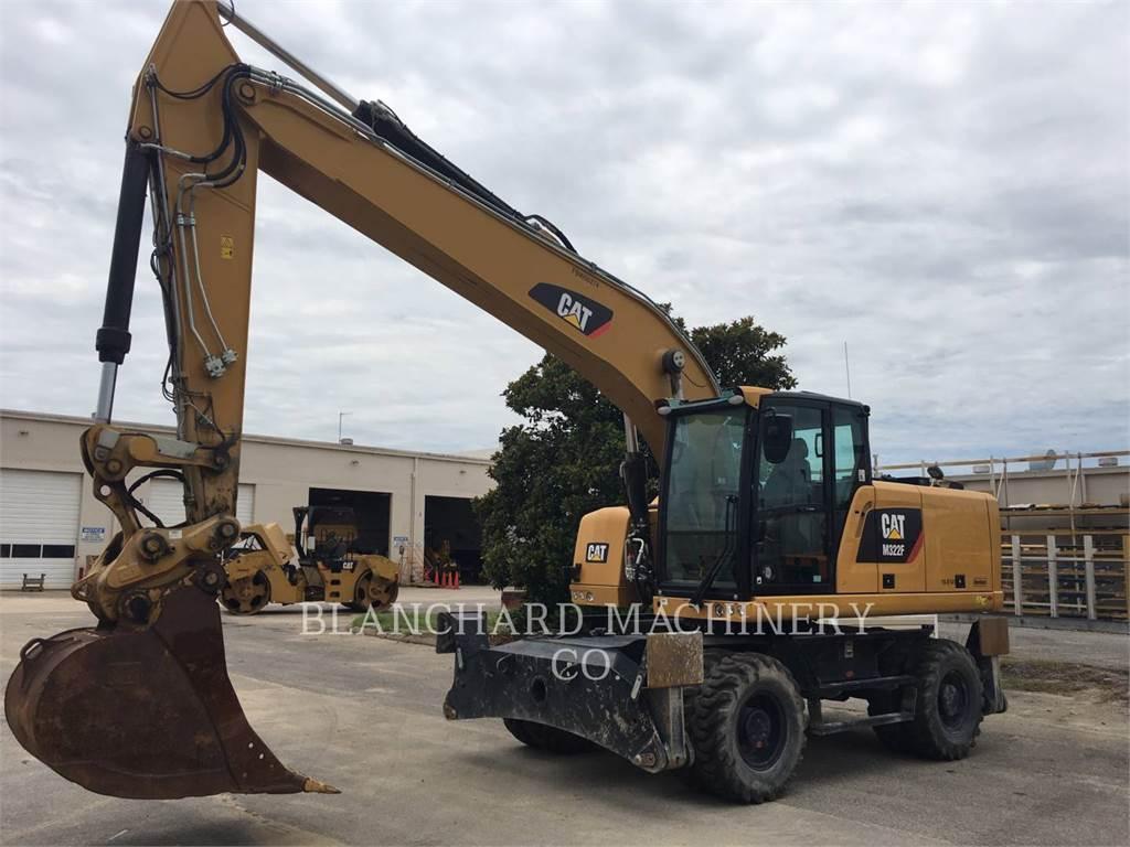 Caterpillar M322F, excavatoare pe roţi, Constructii