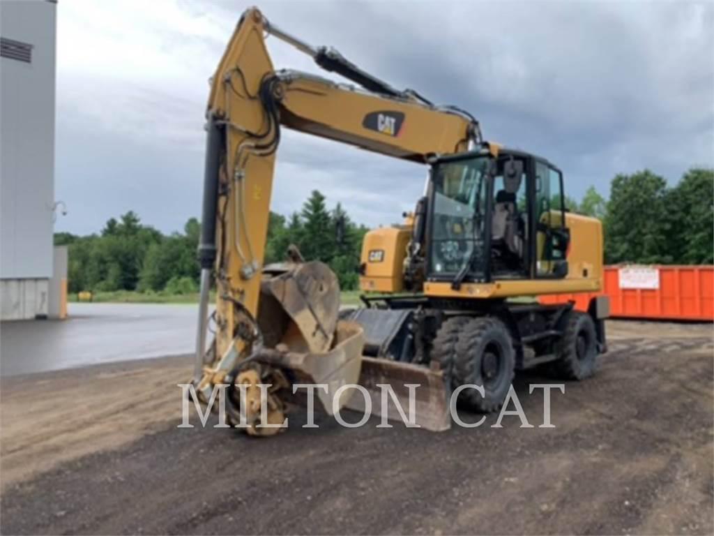 Caterpillar M322F, wheel excavator, Construction