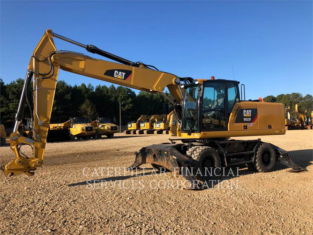 Caterpillar M322F, wheel excavator, Construction