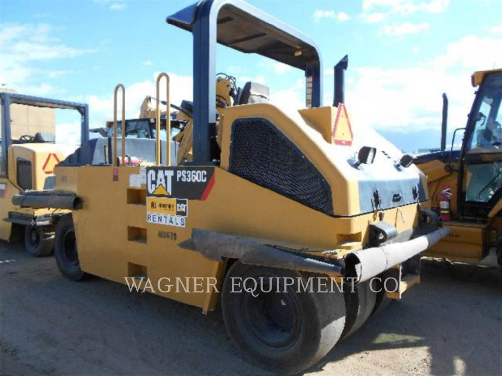 Caterpillar PS-360C, pneumatic tired compactors, Construction