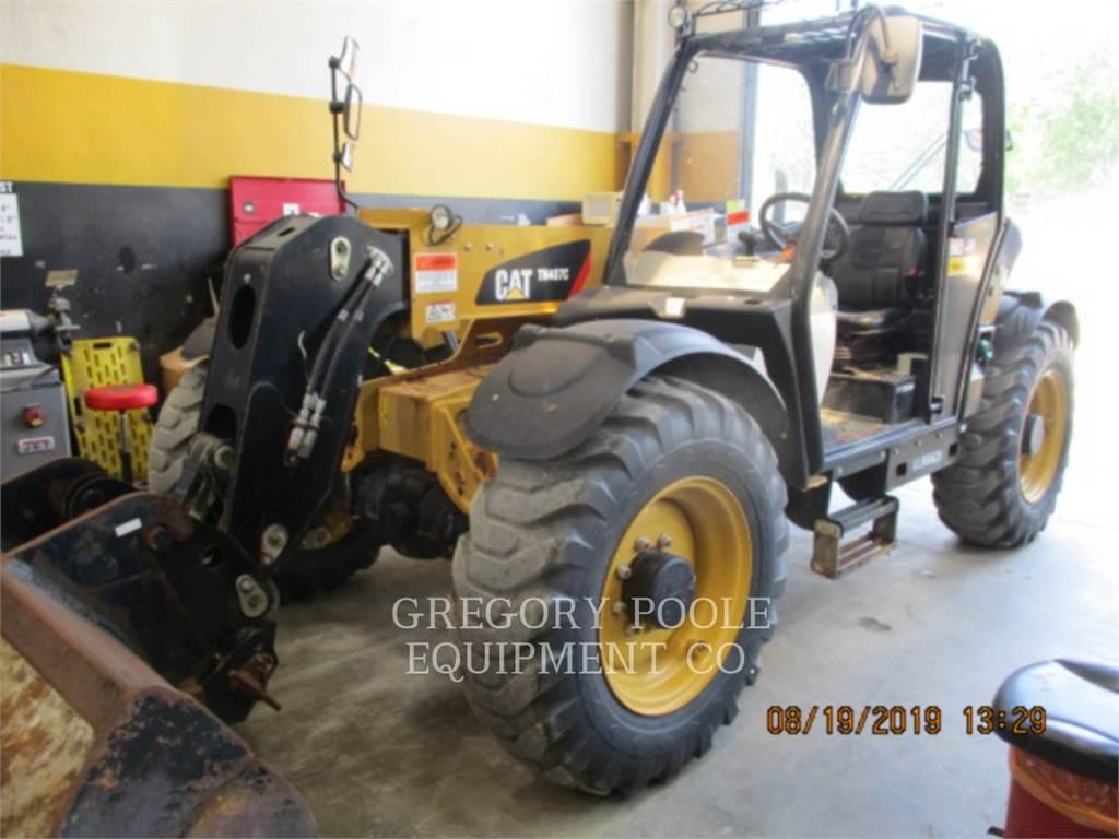 Caterpillar TH407C, chargeur à bras télescopique, Équipement De Construction