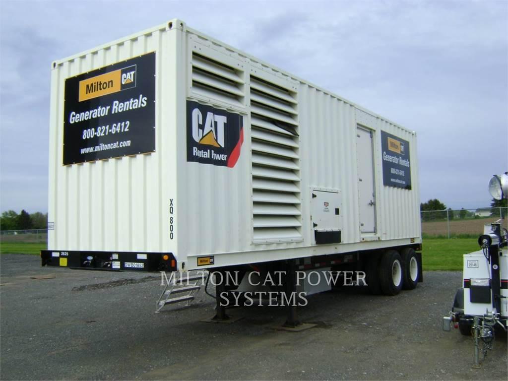 Caterpillar XQ800、移動式発電装置、建設