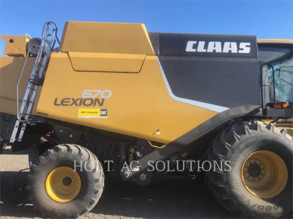 Claas 670, mähdrescher, Landmaschinen