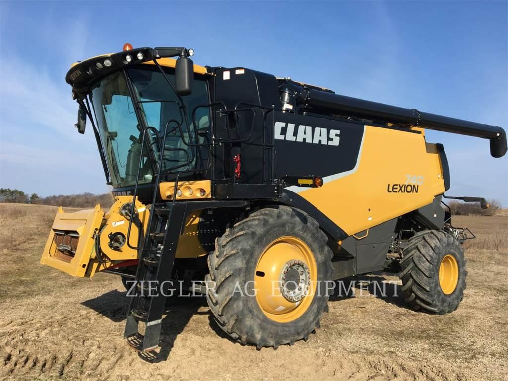 Claas 740, mähdrescher, Landmaschinen