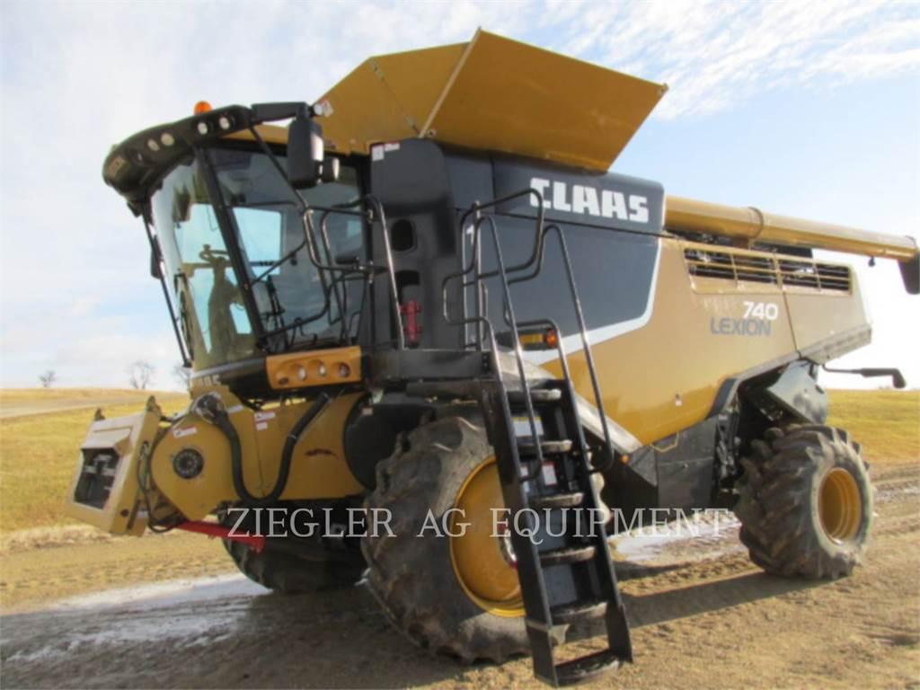 Claas 740, kombajny, Maszyny rolnicze