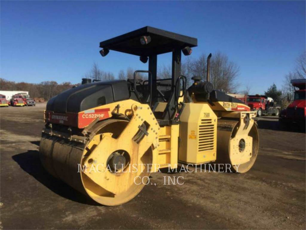 Dynapac CC522VHF, Twin drum rollers, Construction