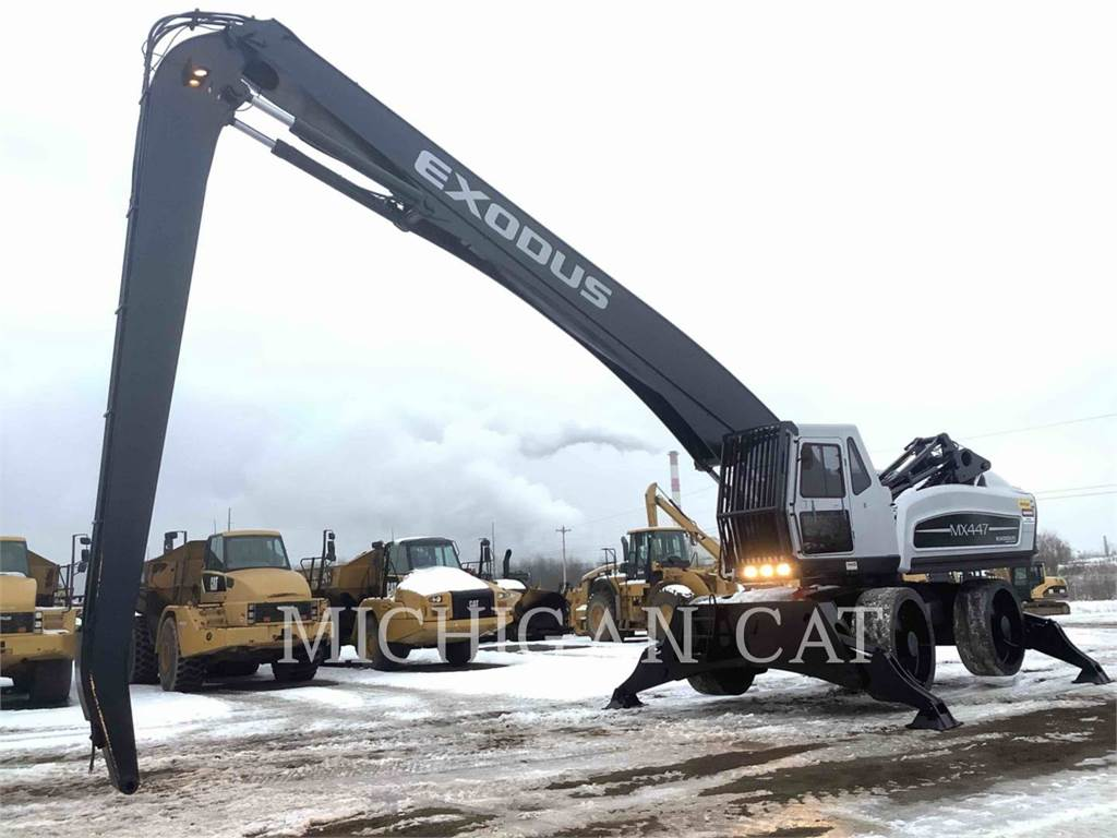 Exodus MX447HDR, wheel excavator, Construction