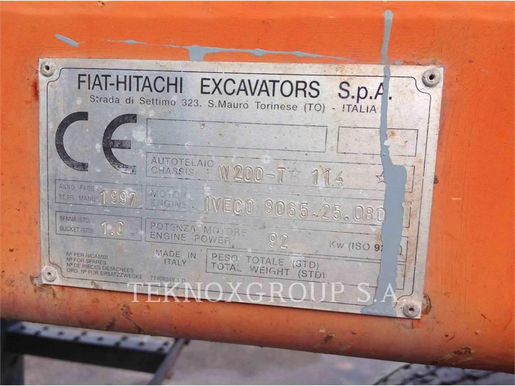 Fiat-Hitachi FH200W、ホイール油圧ショベル、建設