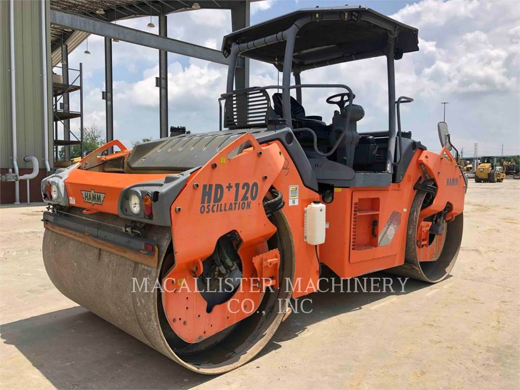 Hamm HD+ 120, Twin drum rollers, Construction