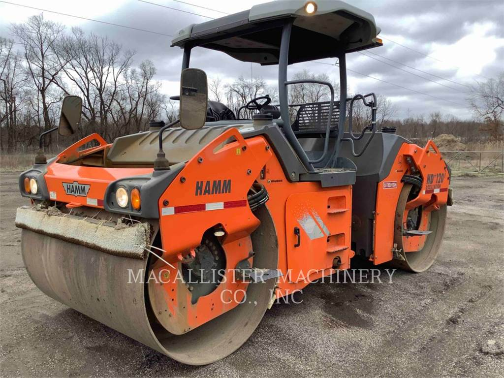 Hamm HD+120I, Twin drum rollers, Construction