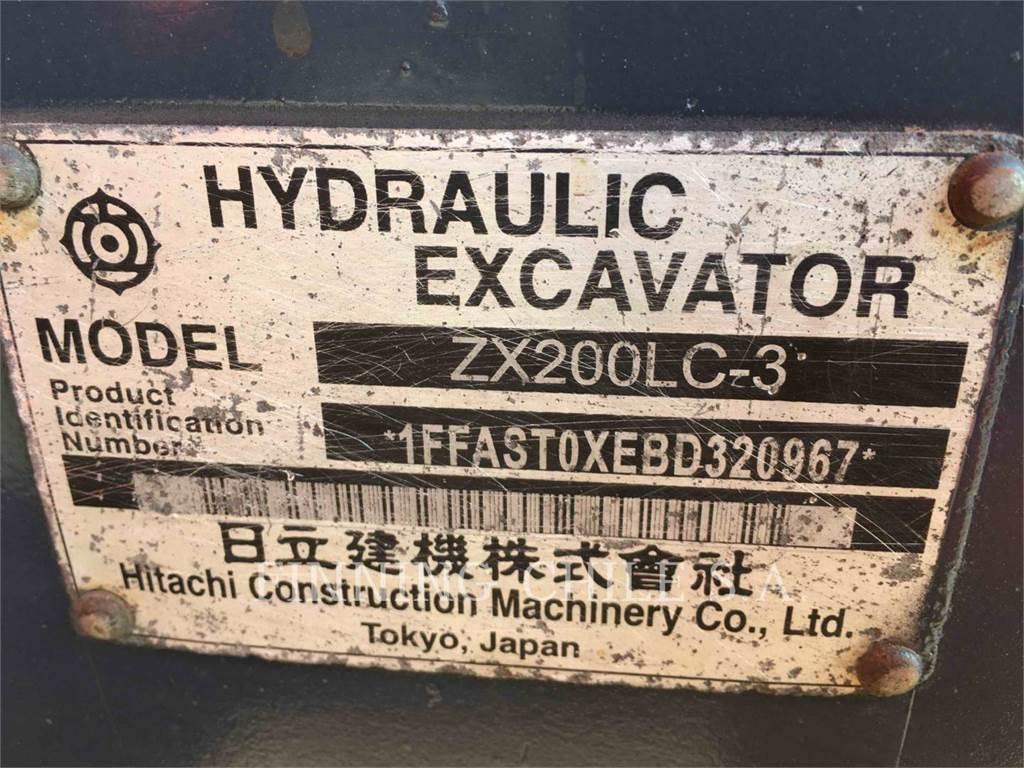 Hitachi ZX200LC, Escavadoras de rastos, Equipamentos Construção
