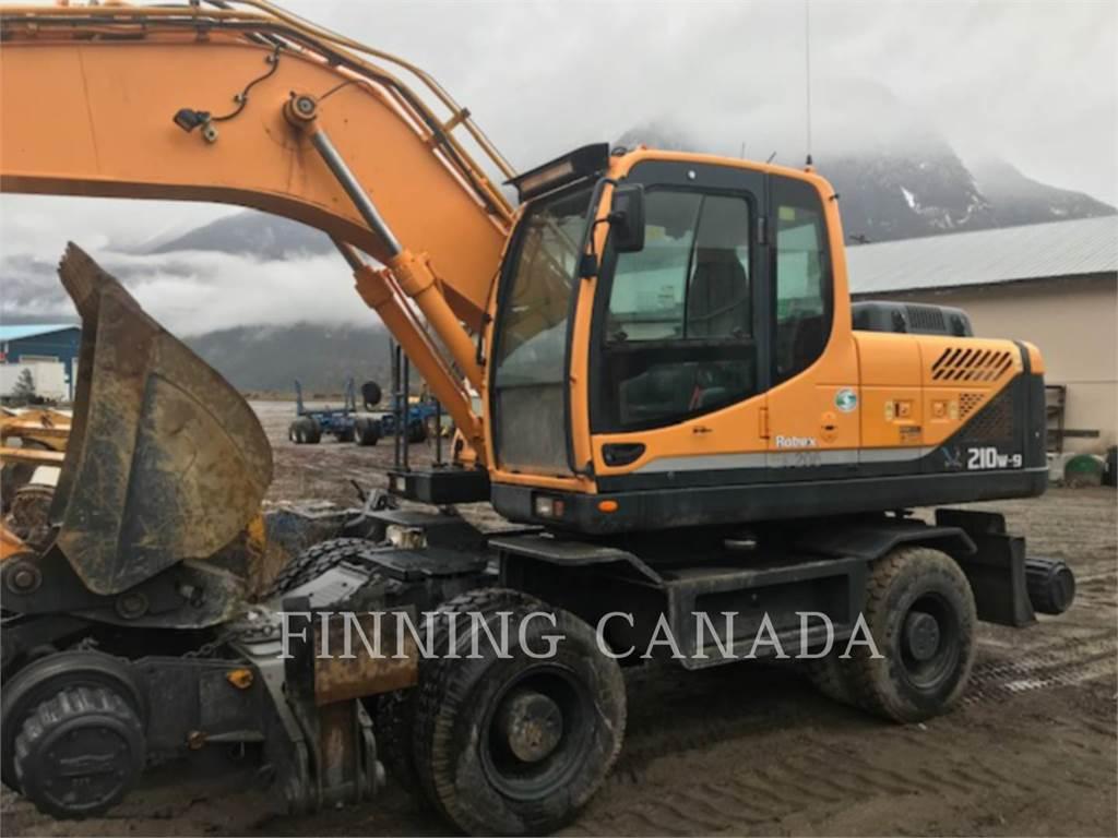 Hyundai 210W-9, escavadeiras de rodas, Equipamentos Construção