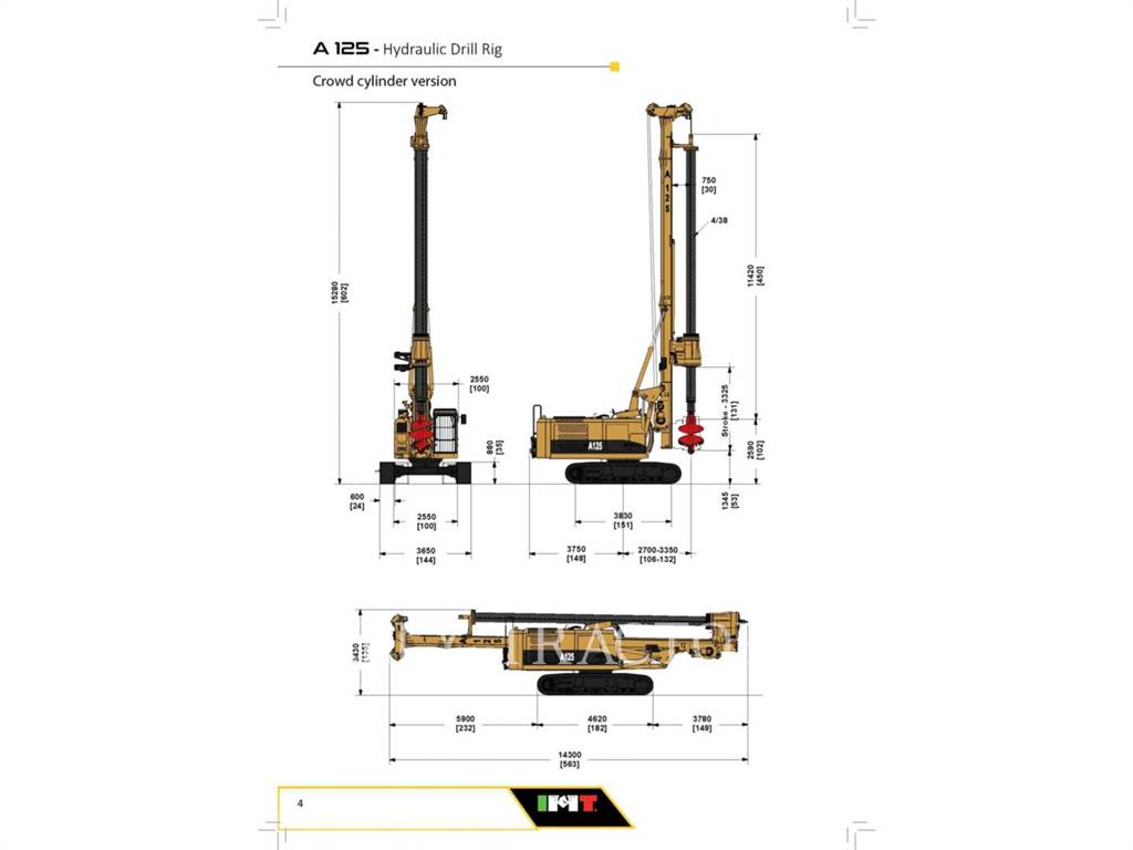 IMT A125 LCA, Surface drill rigs, Construction