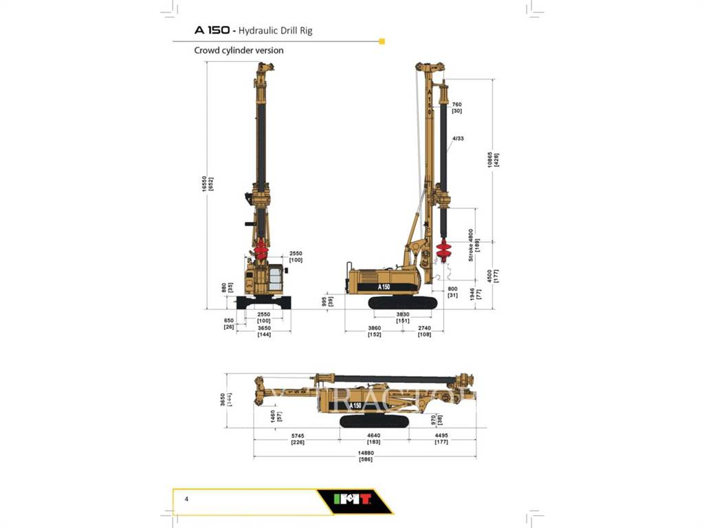 IMT A150, Surface drill rigs, Construction