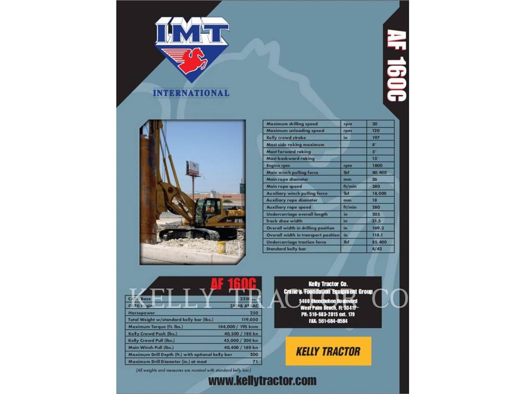 IMT AF160、重ドリル、建設