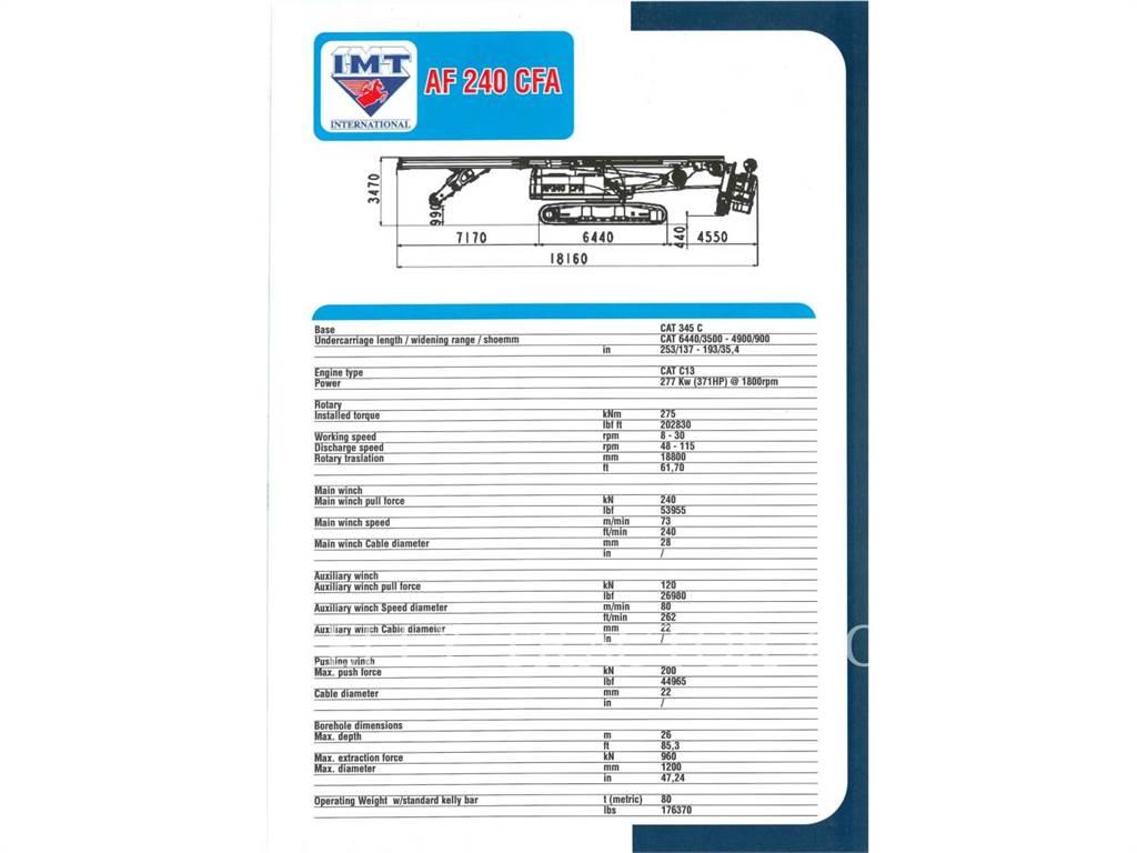 IMT AF240CFA, Perforadoras, Construcción