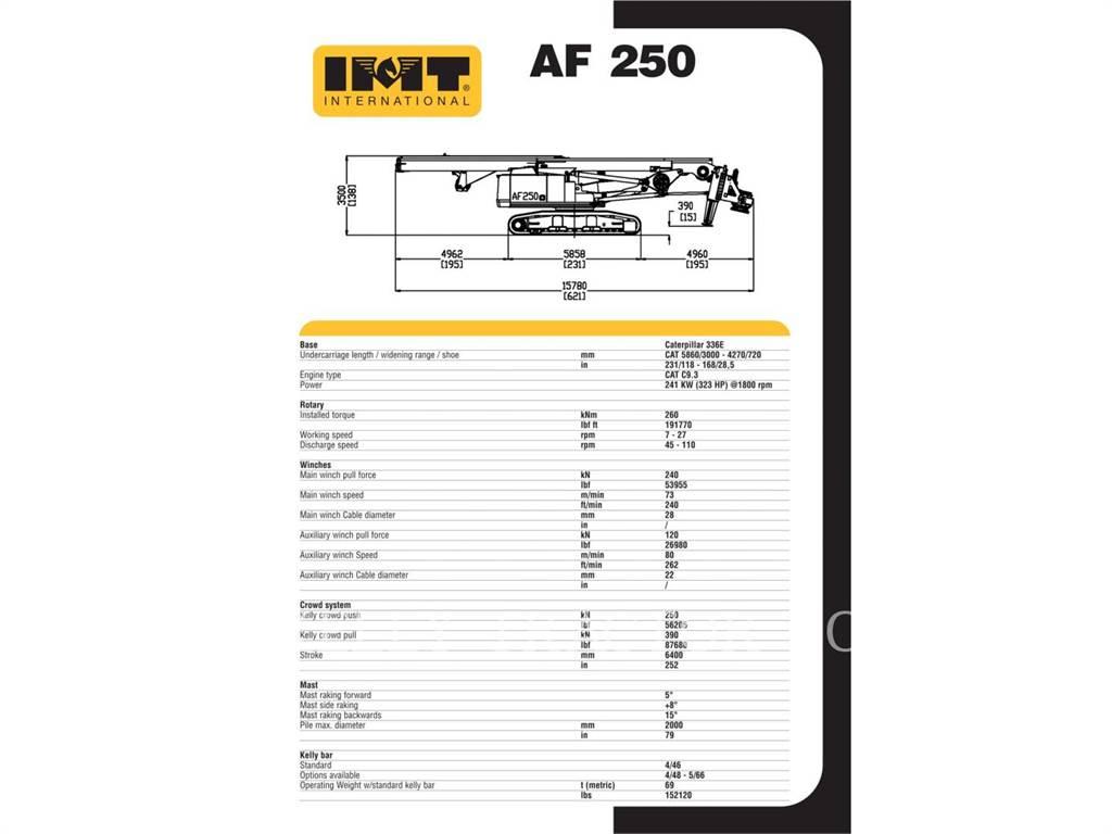 IMT AF250E, Ciężkie wiertnice, Sprzęt budowlany