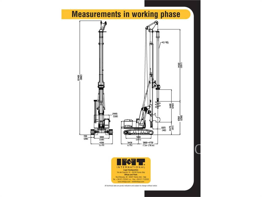 IMT AF250E, Surface drill rigs, Construction