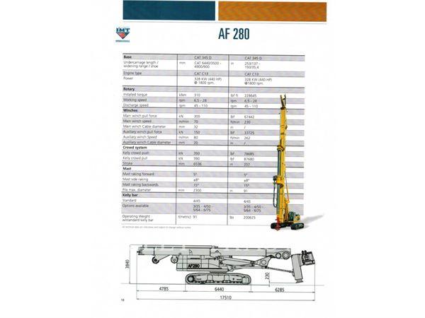 IMT AF280, Ciężkie wiertnice, Sprzęt budowlany