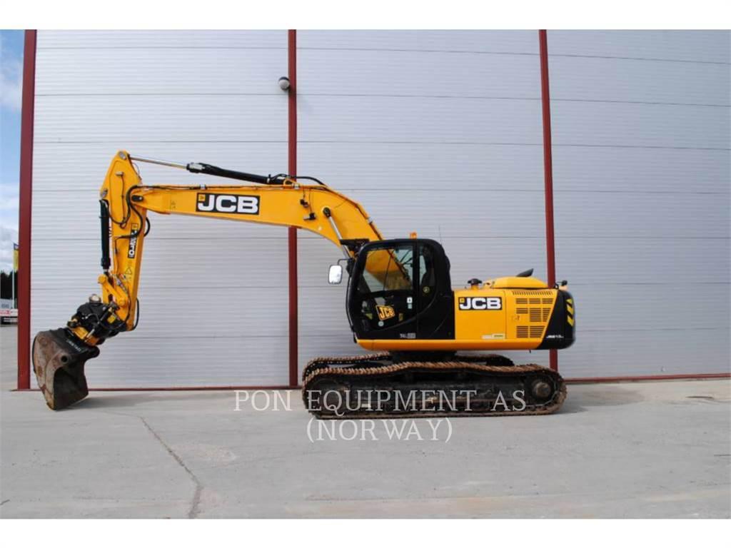 JCB 210, Excavatoare pe senile, Constructii