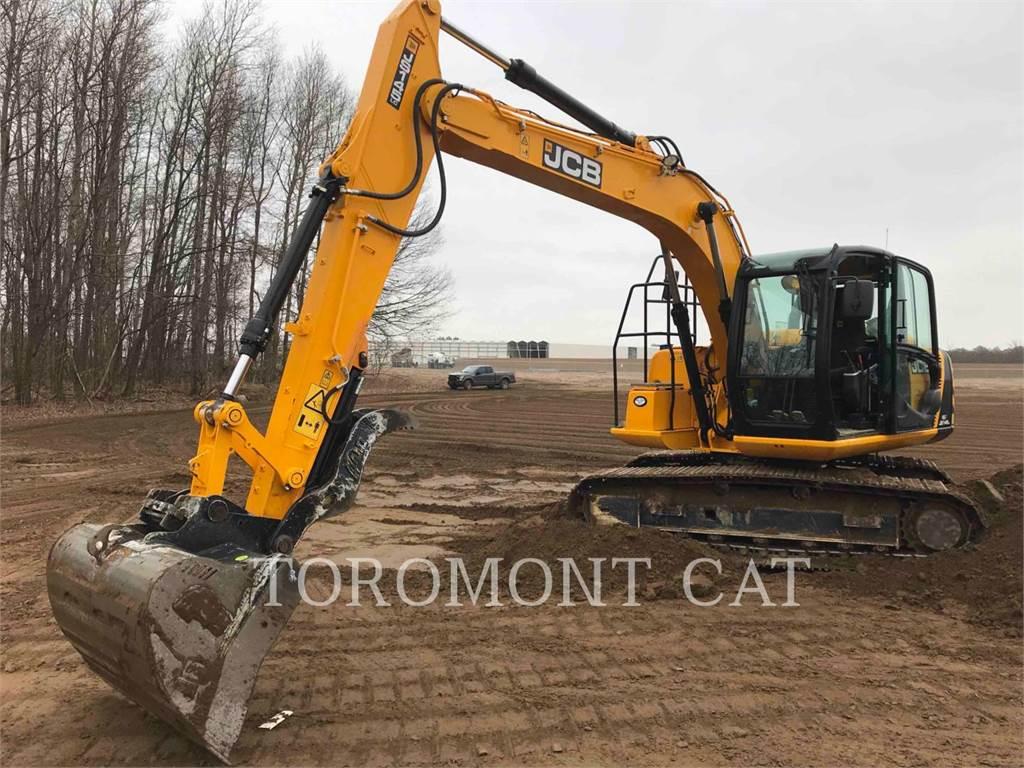 JCB JS145, Excavatoare pe senile, Constructii