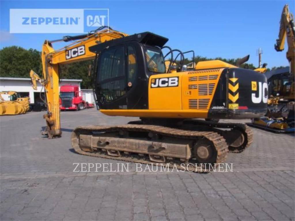 JCB JS220LC, Rupsgraafmachines, Bouw