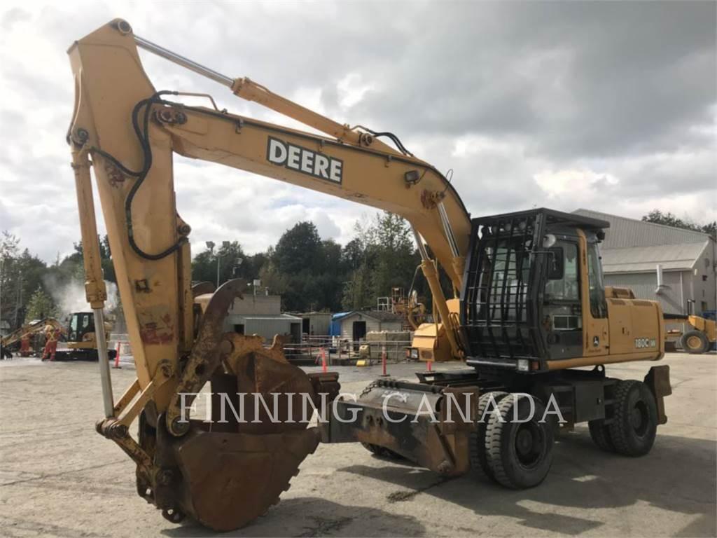 John Deere 180CW, wheel excavator, Construction